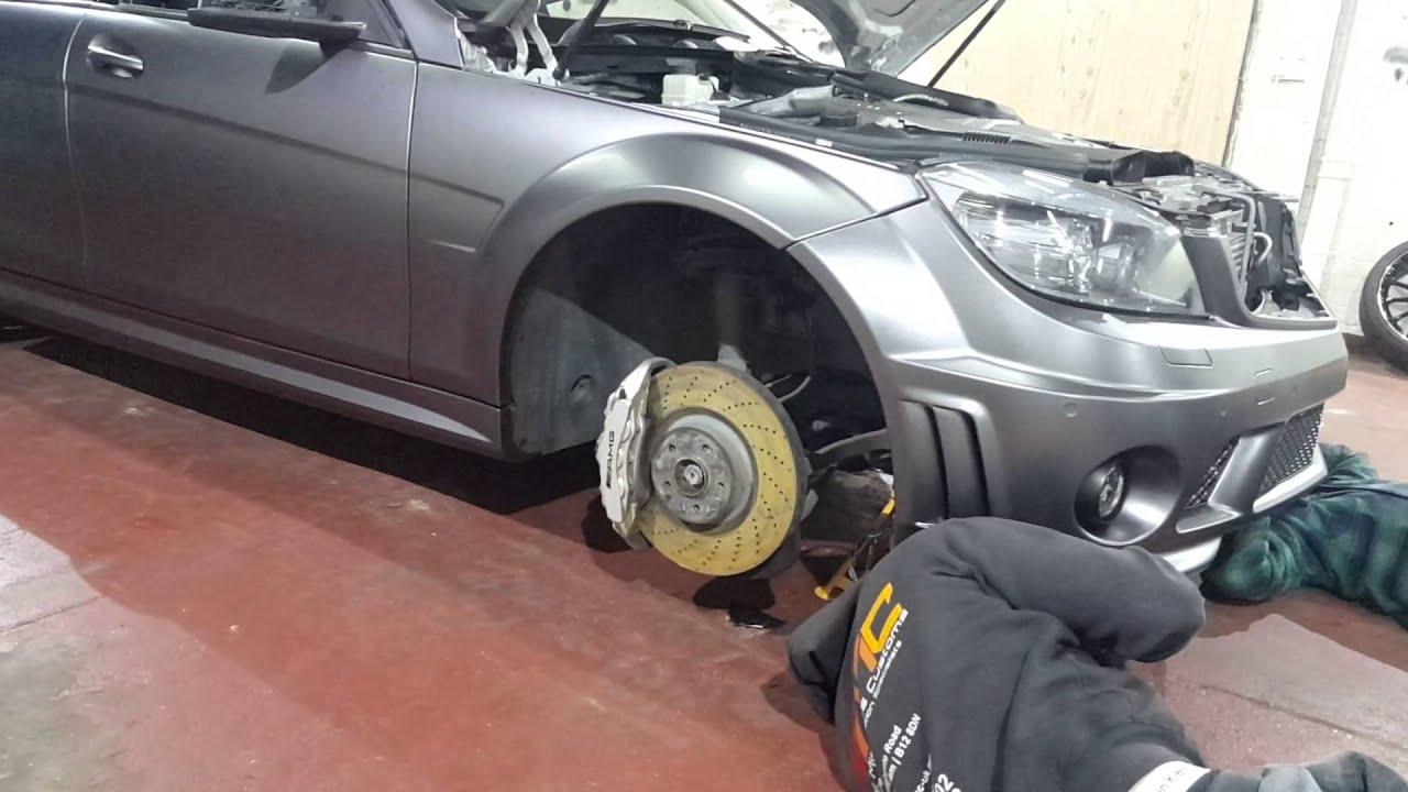 Mercedes C63 Amg Wrapped 3m 1080 Satin Dark Grey By Wmc