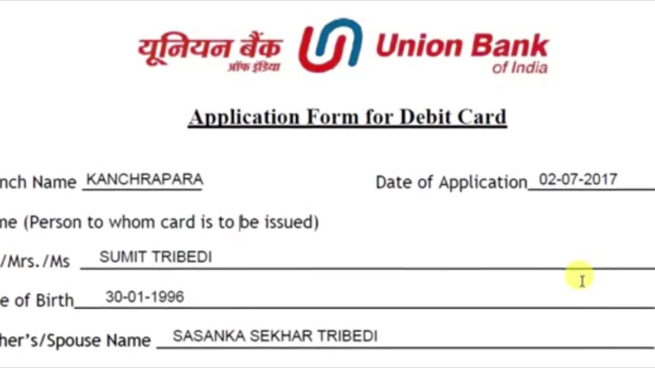 Union Bank Of India Credit Card Application Form Online | Cardfssn org