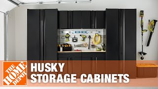 Husky Storage Cabinets And Secure Lock Track System