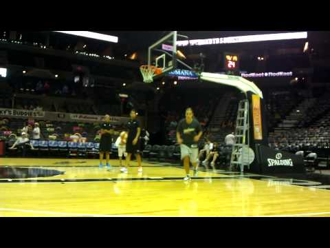 Becky Hammon Warming Up by Dropping shots