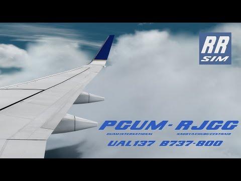 Prepar3d PMDG NGX Guam - Nagoya UAL137