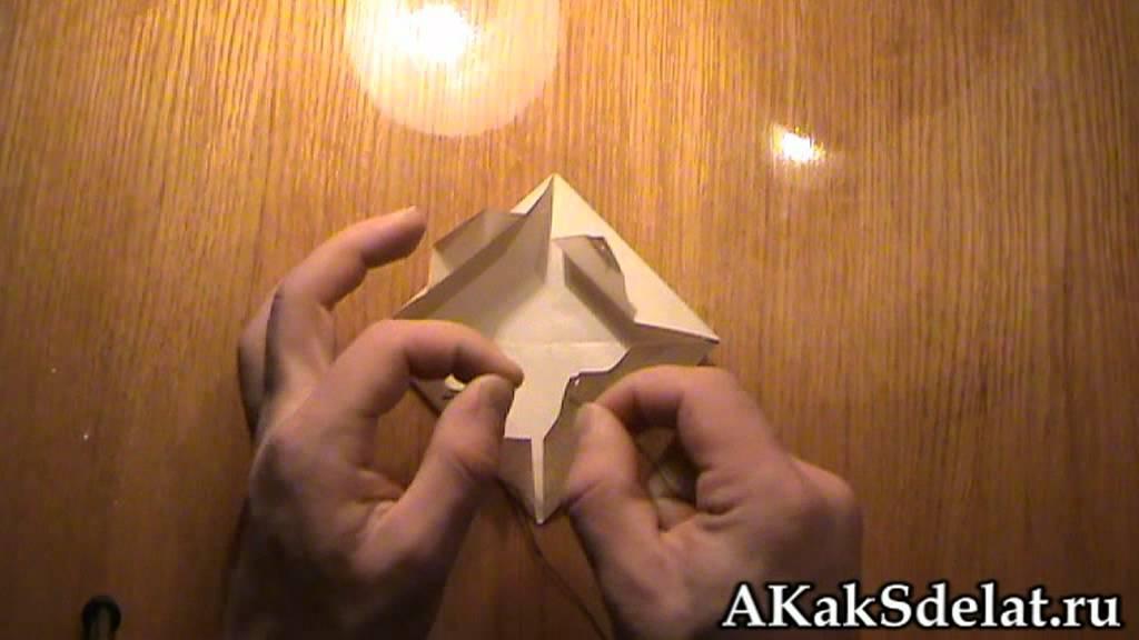 Как из бумаги сделать парашют
