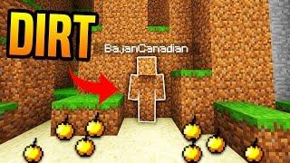 I AM DIRT! | Minecraft UHC TROLLING (I AM STONE CHALLENGE!)
