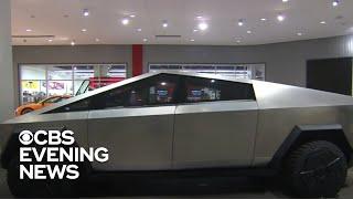 Tesla's cybertruck draws crowds at Petersen Automotive Museum