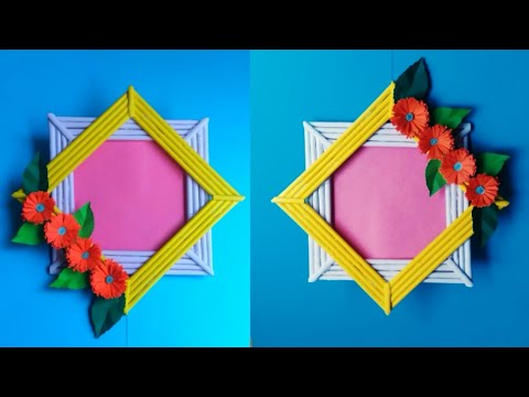 DIY Handmade Photo Frame from Paper Sticks | Easy Paper Photo Frame Tutorial | Handmade Photo Frame