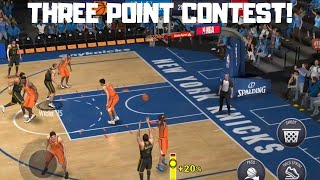 THE THREE POINT CONTEST IN NBA LIVE MOBILE 20!!!