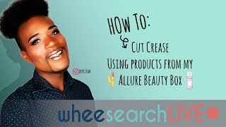 How To: Cut Crease Using Products from My Allure Beauty Box