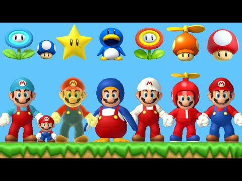 New Super Mario Bros. Wii - All Power-Ups