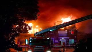 Large fire engulfs Weybridge hospital building