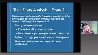 Tuck School of Business MBA essay analysis and tips