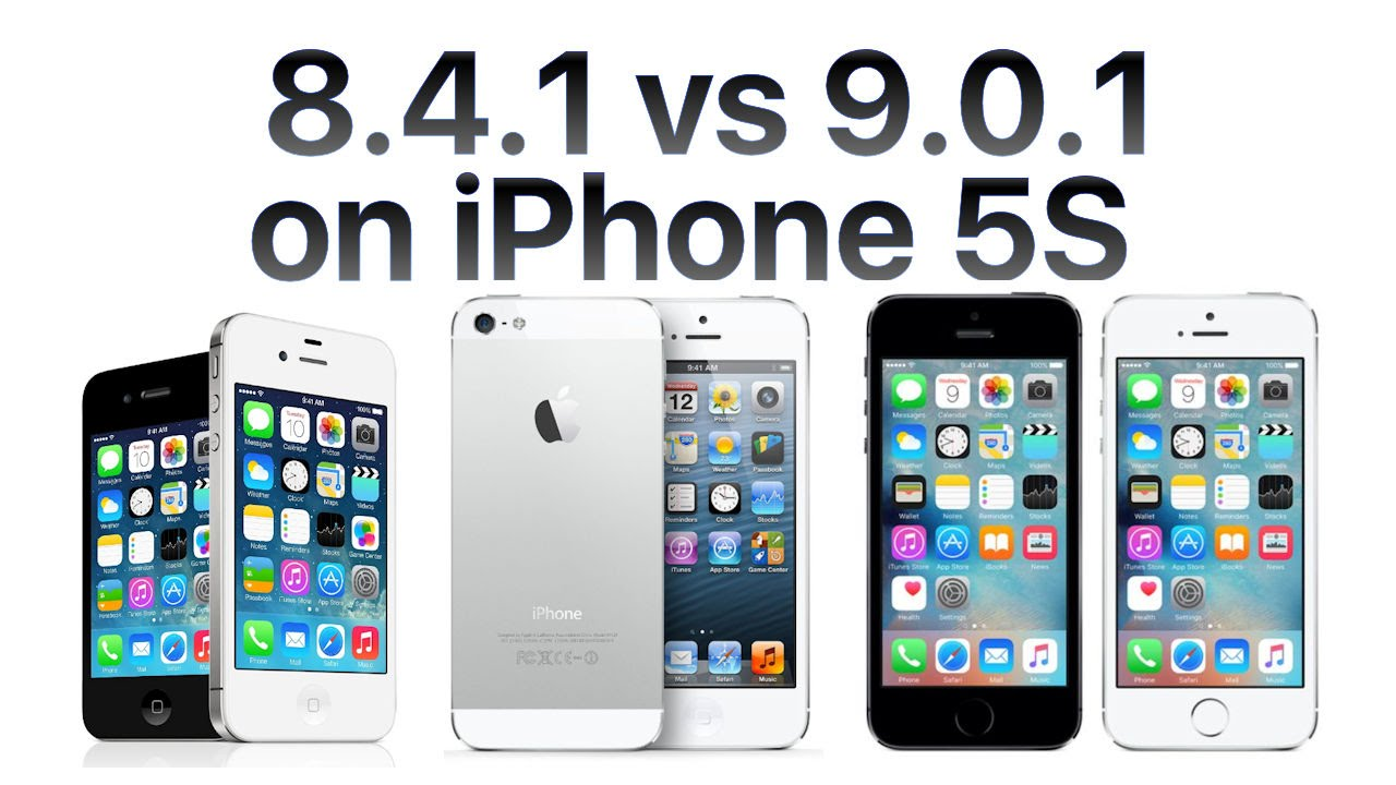 iphone 5s ios 9 0 1 vs ios 8 4 1 youtube. Black Bedroom Furniture Sets. Home Design Ideas