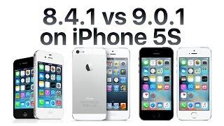 iPhone 5S iOS 9.0.1 vs iOS 8.4.1