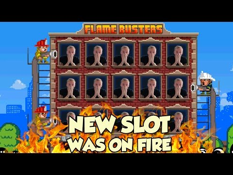 Online Slot - Flame Busters Big Win and bonus round (Casino Slots)