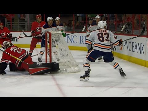 Oilers' Benning scores ridiculous goal off Darling's back