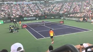 Nadal vs Zverev - 2016 BNP Paribas Open Match Point