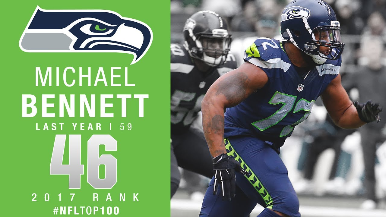 100 Amp Disconnect >> #46: Michael Bennett (DE, Seahawks)   Top 100 Players of 2017   NFL - YouTube