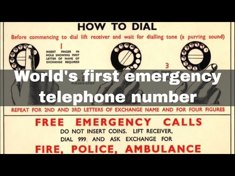 30th June 1937: World's first emergency telephone number began operation