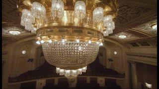 »Lusterreinigung im Großen Saal« | Wiener Konzerthaus