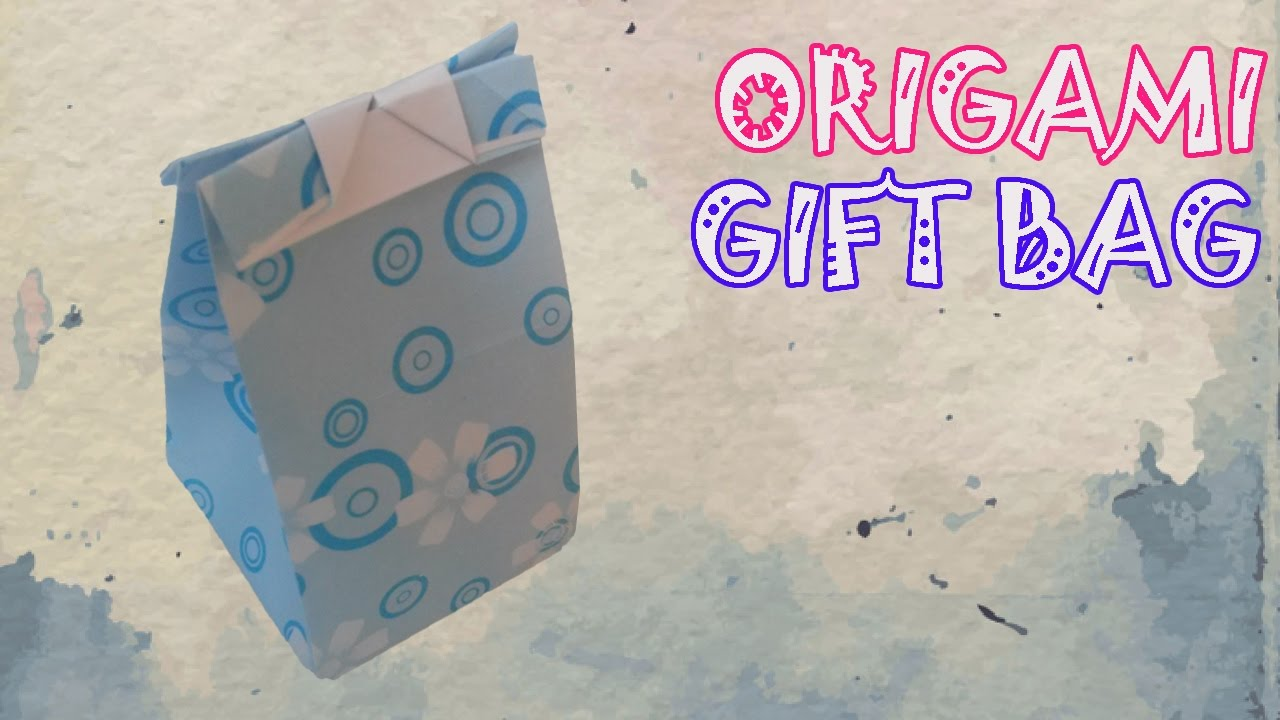 Papercraft Origami Easy - Origami Gift Bag Tutorial