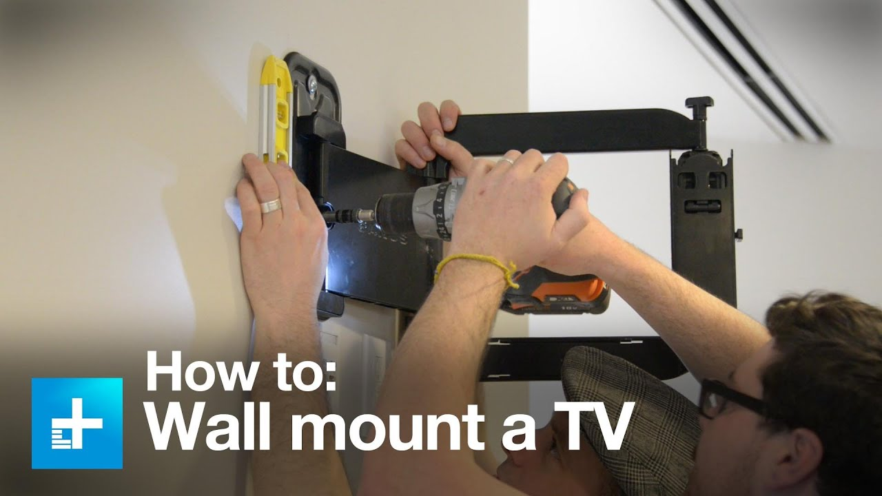 How To Put A Tv On A Wall How To Wall Mount A Tv With The Sanus Full Motion Vmf322