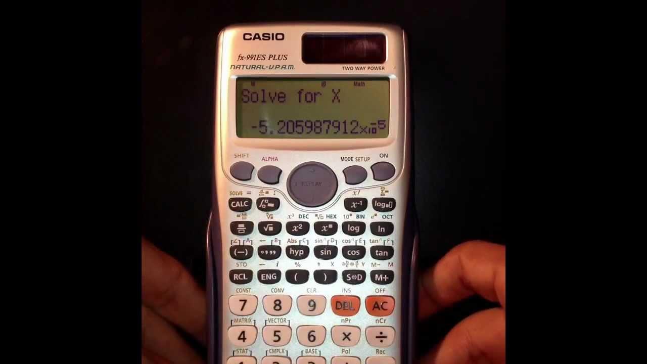 Como resolver ecuaciones con la calculadora
