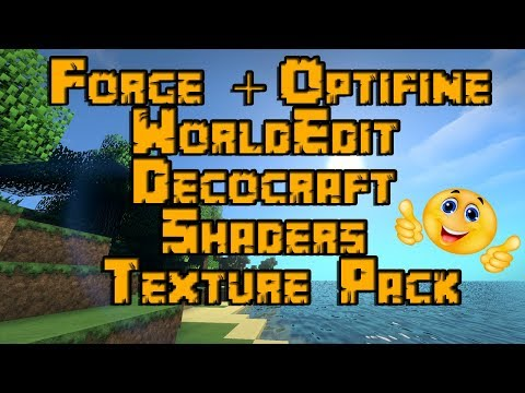 Minecraft Forge Mit Optifine/WorldEdit Mod/Decocraft Mod/Shader Mod & Texture Pack Installieren 1.12