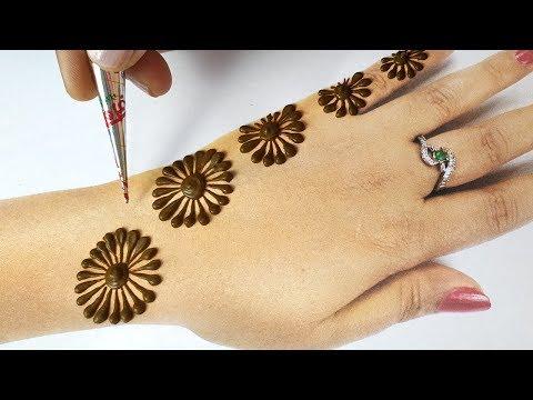 Easy Beautiful Mehndi for Eid 2019 , New Stylish Back Hand