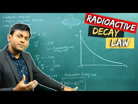 Radioactive DECAY LAW, Half Life, Decay Constant, Activity + Problems 😰