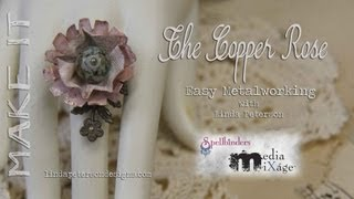 How To Make A Copper Rose Filagree Ring - Beginner's Metalworking Technique