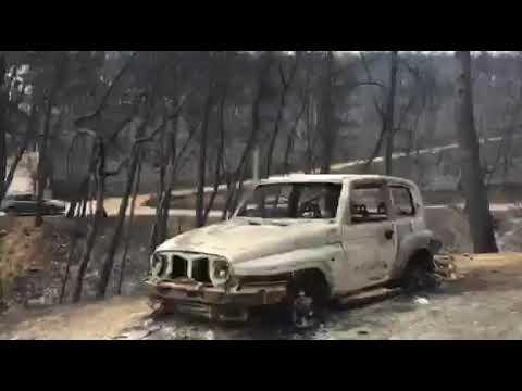 Μάτι Αττικής: Εικόνες βιβλικής καταστροφής μετά το πέρασμα της πυρκαγιάς