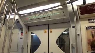 バンコクBTS スクンビット線 車内の様子(ウドムスック→プナウィティ) / Bangkok BTS Sukhumvit Line (Udom Suk - Punnawithi)