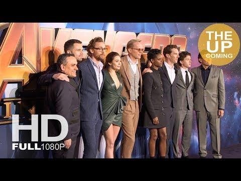 Avengers Infinity War premiere arrivals, red carpet, photocall: Tom Hiddleston, Benedict Cumberbatch