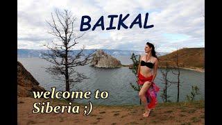 Russian girls show the Baikal lake and Irkutsk, Siberia. CouchSurfing in Russia