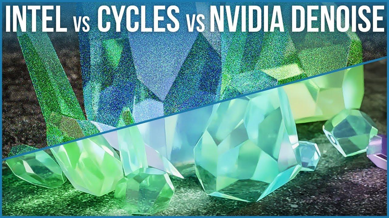 Denoising in Blender 2 81 - Intel's ML Compositing Node vs Cycles vs NVIDIA  D-Noise