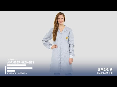 Smock AM160 with cuffs and 3 mm snap EBP