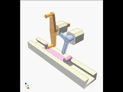 Slider Crank Mechanism With Elbow Lever 2 Youtube
