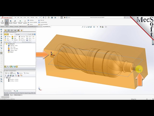 VisualCAM 2021 for SOLIDWORKS, 4 Axis Introduction