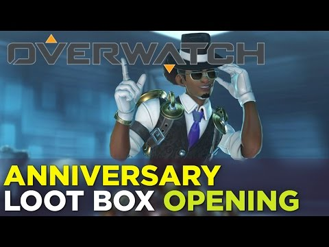 OVERWATCH Anniversary Loot Box Opening x25 + New Emotes and Skins