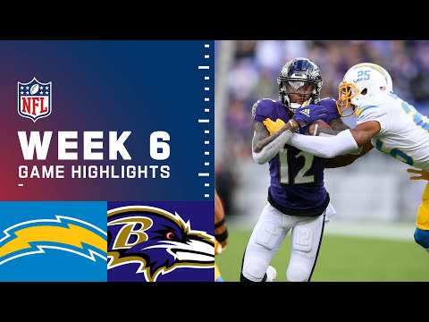 Chargers vs. Ravens Week 6 Highlights | NFL 2021
