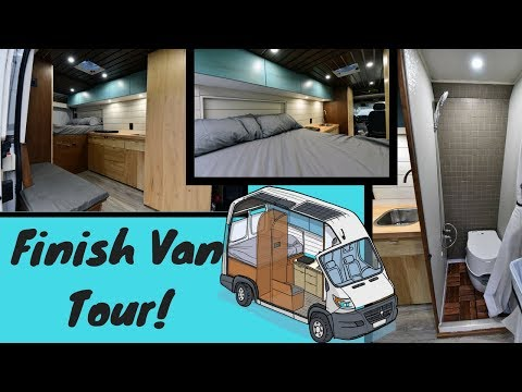 My Van Tour / How I Live in My Tiny Home Van Full Time and 100% Off Grid