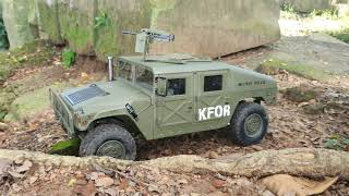 Hummer Military Vehicle at Ancient Temple by RC Cars Hobby