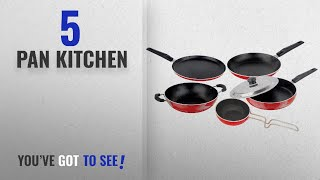 Top 10 Pan Kitchen [2018]: Nirlon Non-Stick Aluminium Cookware Set, 5-Pieces, Multicolour
