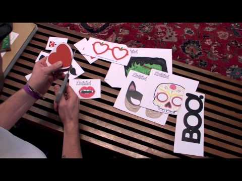 How To Make Diy Printable Photo Booth Props Doovi