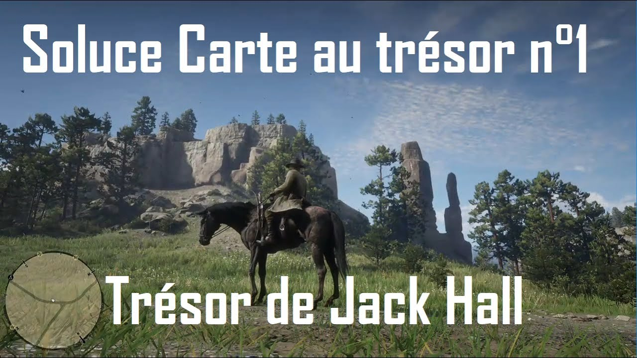 Red Dead Redemption 2 Trésor De Jack Hall Carte N1