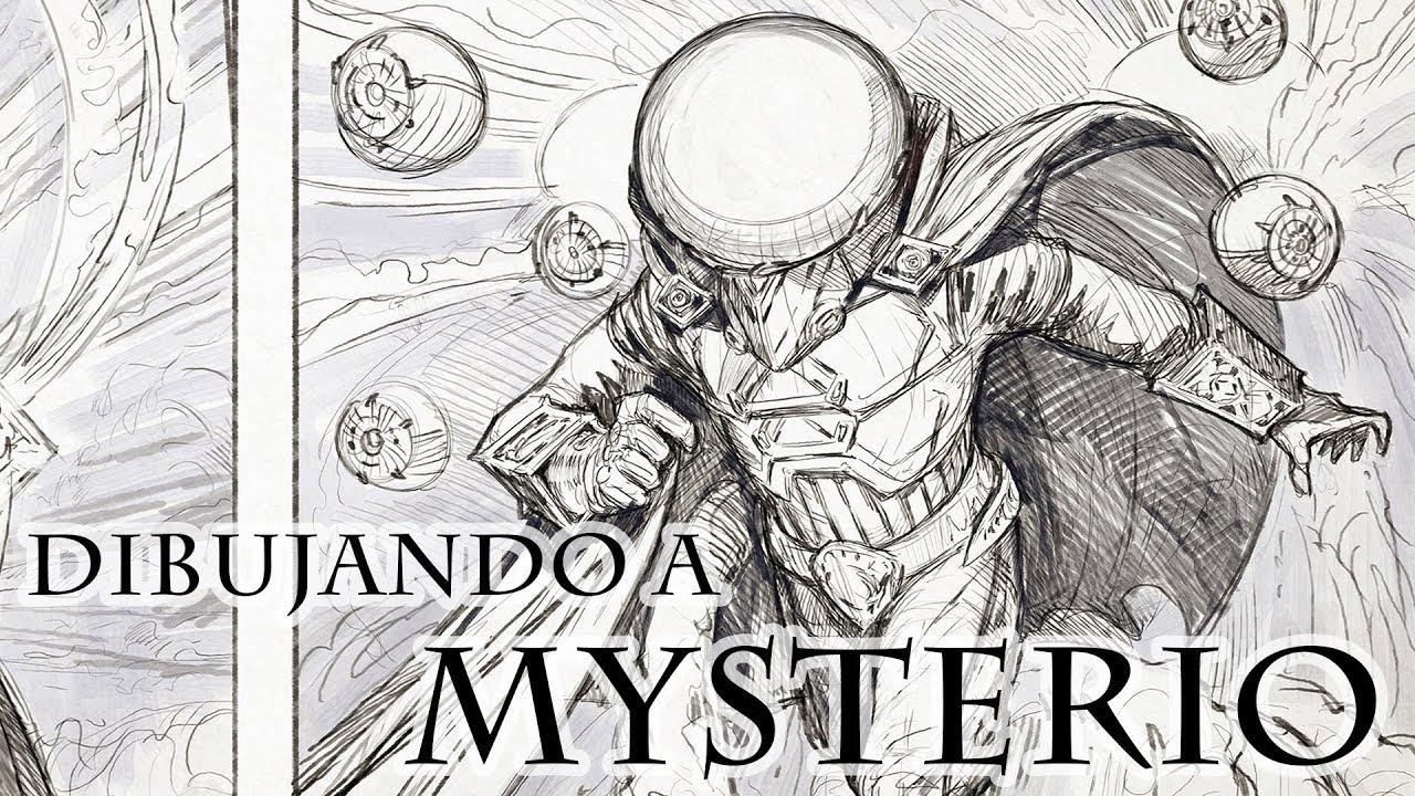 Dibujando A Mysterio De Spiderman Lejos De Casa Marvel Jesus Conde