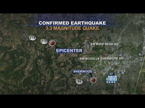 USGS reports 3.3 earthquake NW of Sherwood