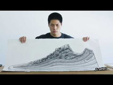 Boy Kong's Watercolors Meet The Nike Air Max 95 | Ill-ustrated, Ep. 9