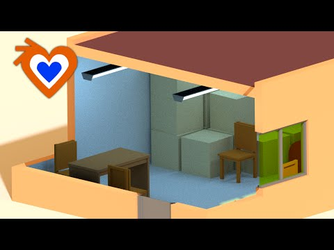 Blender 2.72 Cross-section of building
