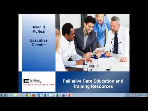 Webinar - Palliative Care Education and Training Resources (5/10/2016)
