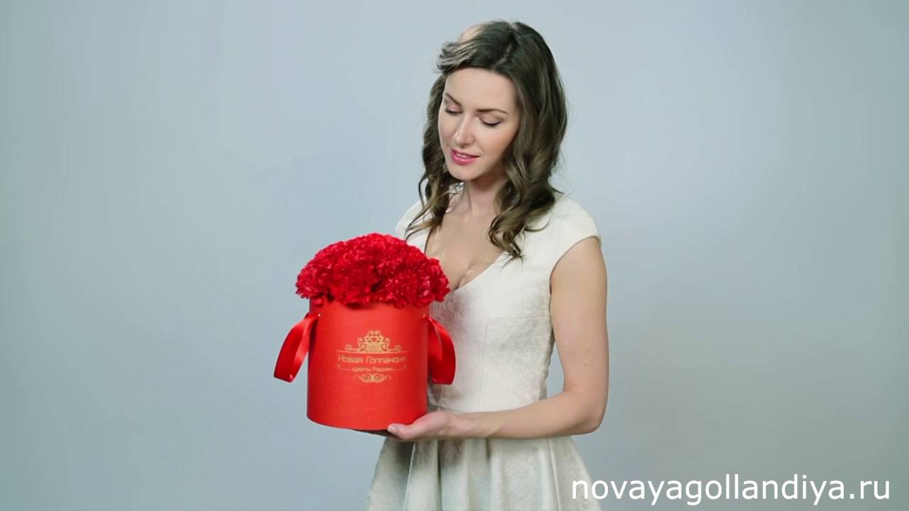 31 тюльпан в шляпной коробке - YouTube
